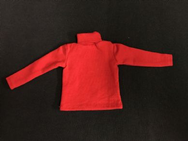 ELITE BRIGADE - ADVENTURER STYLE Red POLO NECK JERSEY to fit Action Man/Gi Joe Adventure Team etc